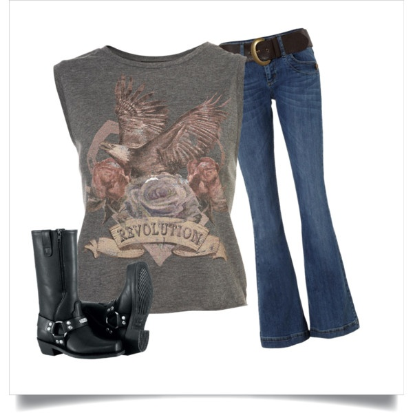 Biker Chick!! Easy look to pull together!