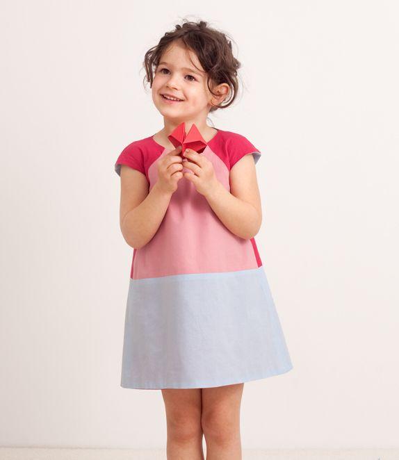 Vestito double-face, rosa-rosso-azzurro