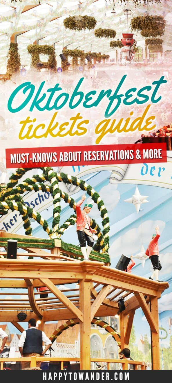A really informative must-read on getting tickets for Oktoberfest! Included are whether or not you actually need tickets, how to make reservations and how to survive the festival as a walk-in without a reservation or ticket. A must read if you are attending Oktoberfest in Munich this year. #Oktoberfest #Munich #Germany