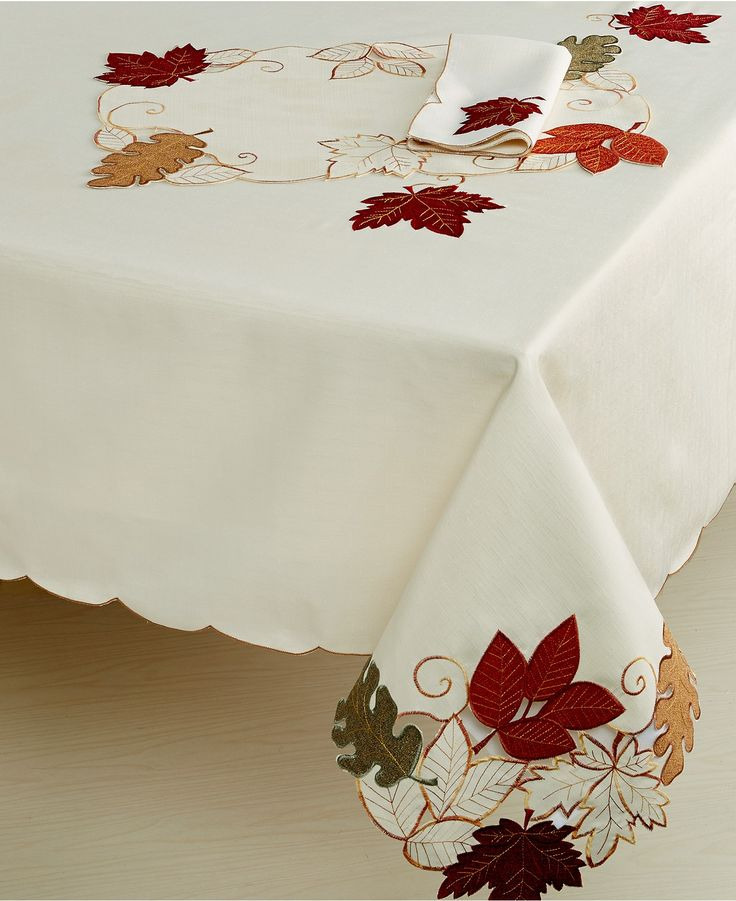 Homewear Harvest Autumn Bliss Collection Table Linens Dining Entertaining Macy S Thanksgiving Tablecloth Table Cloth Fall Tablecloth