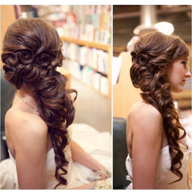 : Hair Ideas, Weddinghair, Hairstyles, Hair Styles, Wedding Ideas, Weddings, Makeup, Wedding Hairs, Beauty