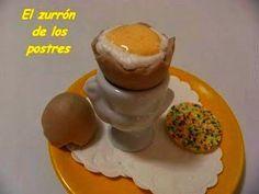 Un Dulce Huevo Pasado Por Agua.  Un huevo poché muy dulce y con cáscara de chocolate.