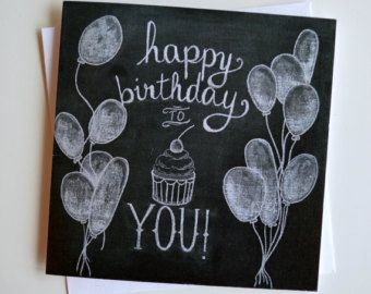 23 Best Chalkboard Art Birthday Images On Pinterest