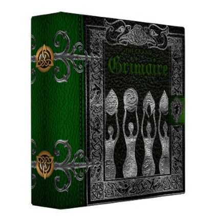The Grand Grimoire Witches Book Of Shadows Binder - home gifts ideas decor special unique custom individual customized individualized