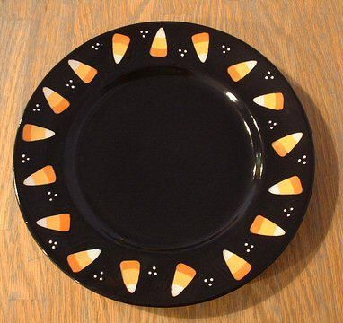 paint your own pottery october google search - Halloween Plates Ceramic