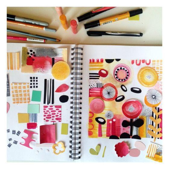 Color me creative a color palette artistically for Color collage ideas