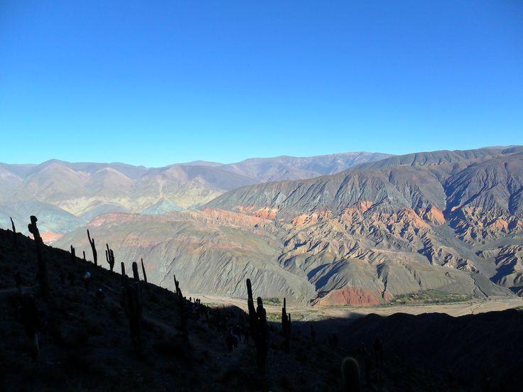 vista desde el camino de Tunalito (Tumbaya- Jujuy), hacia el Rio Grande