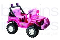 12V Jeep Styled Ride On Car - Pink