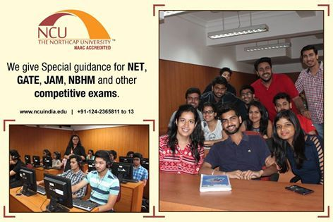#TheNorthCapUniversity not only nurtures #professional minds but also #prepares students for competitive exams for their higher #education by giving personal guidance to students.  Explore your opportunities here www.ncuindia.edu! #NET #GATE #JAM #NBHM #CompetitiveExams
