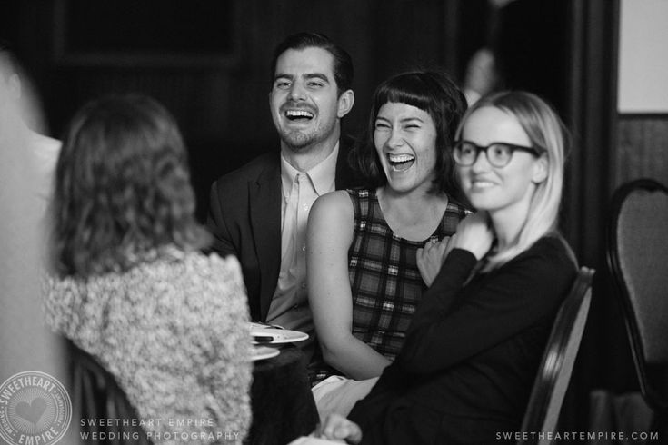 Fantasy Farm - Wedding guests sharing a laugh. #sweetheartempirephotography