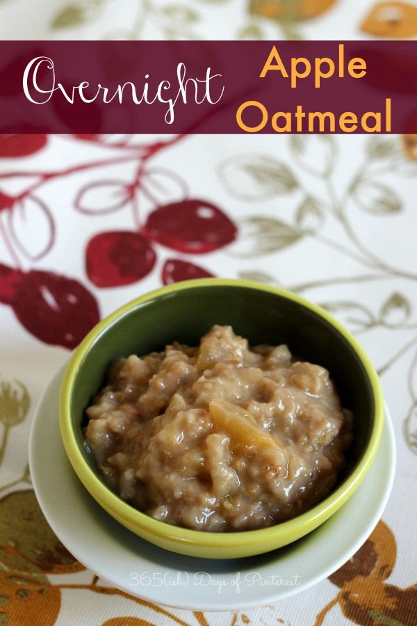 Easy Overnight Apple Oatmeal