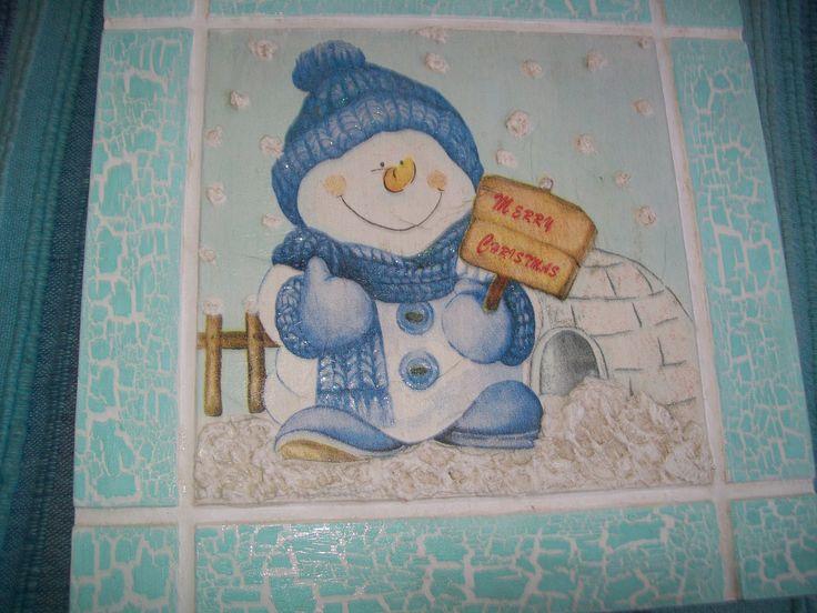 Muñeco de Nieve (Decoupage)