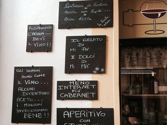 Delightful signs seen in Montecarlo in Tuscany: #StudentessaMatta