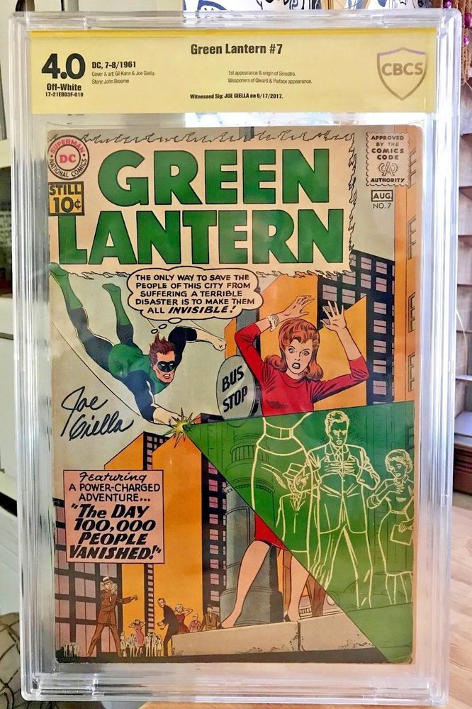 GREEN LANTERN #7 1st Appearance & Origin of Sinestro | Collectibles, Comics, Silver Age (1956-69) | eBay!