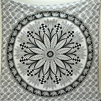Mandala Tapestry Black/White One Size For from Tilly's | Epic