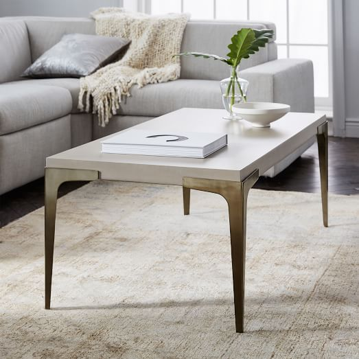 Brass + Concrete Coffee Table