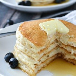 Fluffy Buttermilk Pancakes Mother Thyme In 2020 Buttermilk Pancakes Fluffy Pancake Recipe Using Bisquick Buttermilk Pancakes