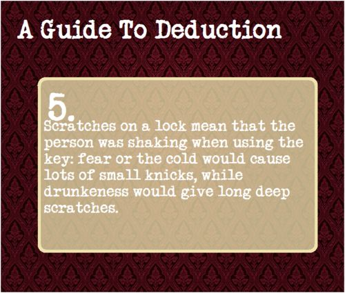A Guide To Deduction #5 Didn't have a board for this soo..
