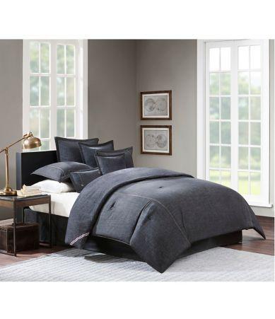 Cremieux Vintage Washed Denim Comforter Shops The O Jays And Black Denim