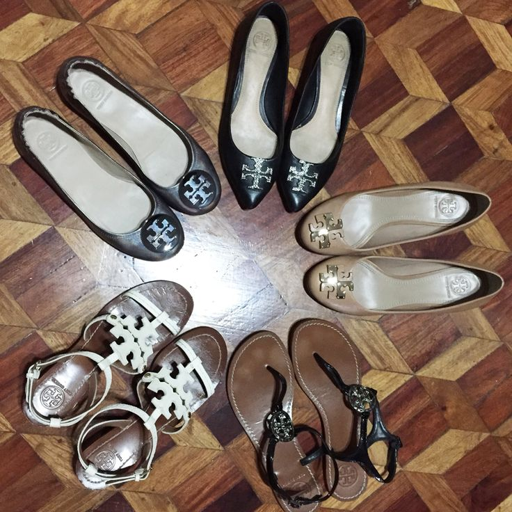 Tory Burch Shoe Collection. Tory Burch Chandler sandals, Tory Burch Kellen  flats, Tory