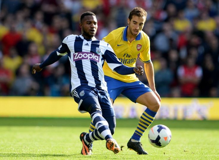 West Bromwich - Arsenal  Sessegnon face a M Flamini #Milieu #Baggies #WB #Adidas #9ine @WBromwich