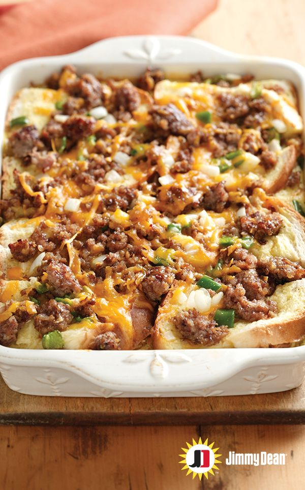 You just became a morning person because this casserole recipe is a meal worth looking forward to. Premium Jimmy Dean Maple Pork Sausage, apples tossed in cinnamon and sugar, eggs and cheese all add up to a brighter fall morning. Pro tip: Insert knife in center and if it comes out clean, dig in.