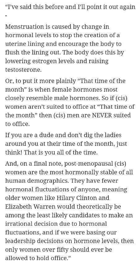 Lol, even if the science behind these statements aren't 100%, I think it still makes a good point and is damn funny.