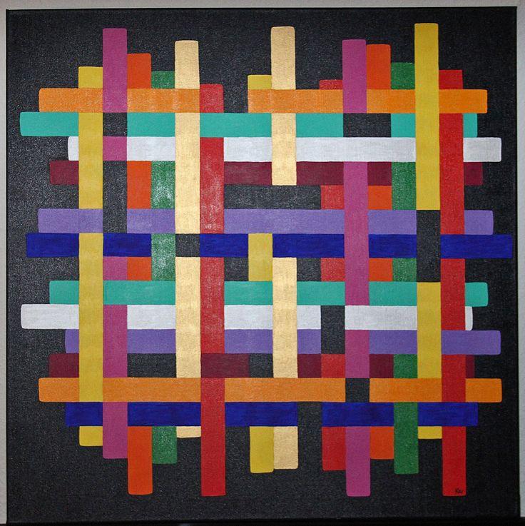 "Titel ""Pipeline"" 80x80 cm. Acrylic Colors"