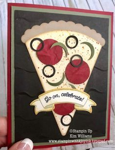 Pizza Card Using Party Hat Birthday Bundle