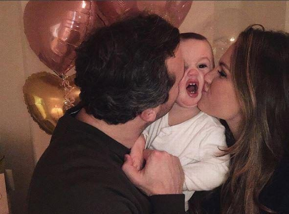Sam Faiers and her boyfriend celebrate baby Pauls first New Years Eve by showering him with kisses