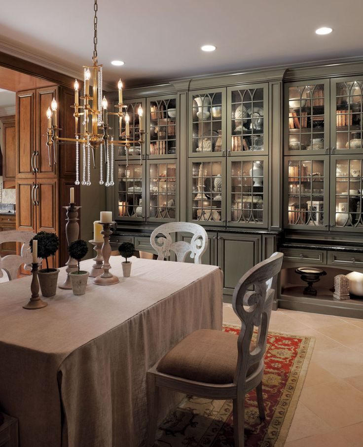 Built in hutch dining room inspiration pinterest for Small dining room cabinets