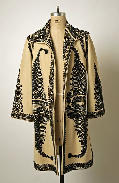 Romanian Coat. . . Date: early 20th century. . . . Culture: Romanian. . . .  Medium: wool. . . . Dimensions: Length at CB: 40 1/2 in. (102.9 cm). . . . Credit Line: Gift of Christine Valmy, 1981