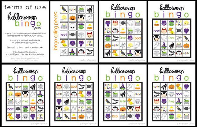 cute halloween bingo printable                              …