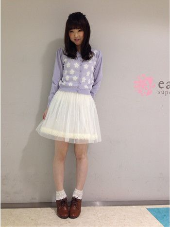 花柄カーディガンにチュールスカート♪ ♡ガーリーなファッション スタイルのコーデまとめ♡