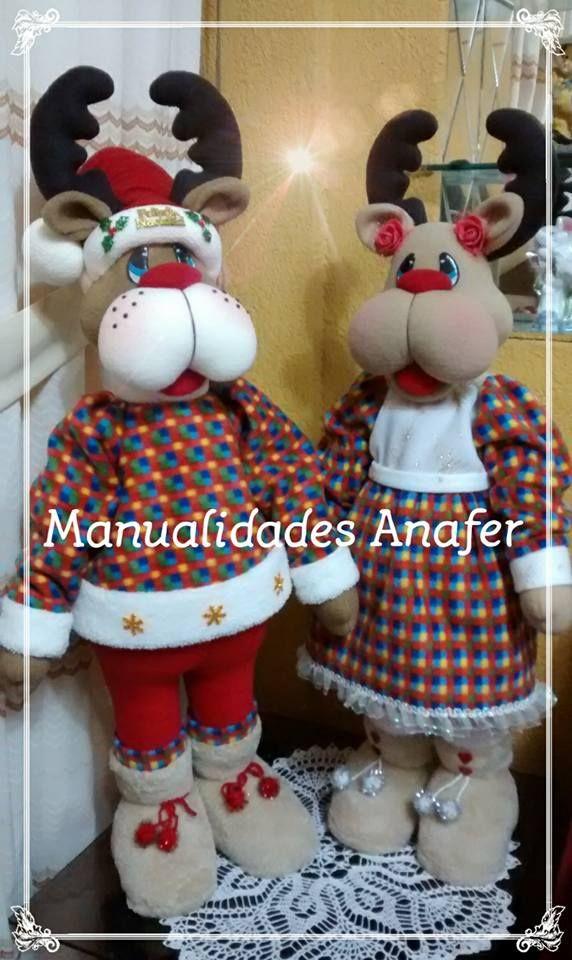 Duquesa y Cupido, son una parejita de renos que no pueden faltar en tu hogar esta Navidad. Elaborados en tela polar y peluche antialérgico...