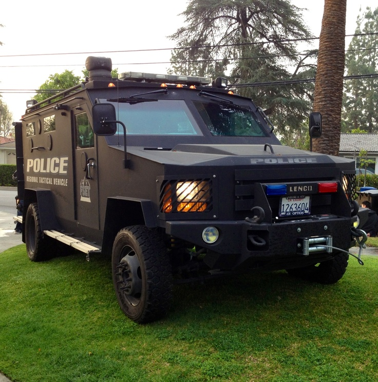Regional Tactical Vehicle (BearCat) used by several local San Gabriel Valley police agencies, including Arcadia PD.  This vehicle is most commonly used to facilitate the service of search warrants.