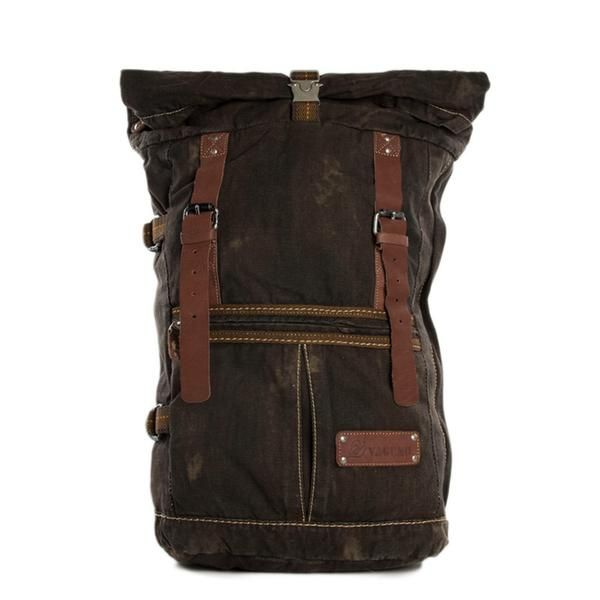 High Quality Canvas Backpack, Waxed Canvas Backpack Hiking Travel Backpack 5040