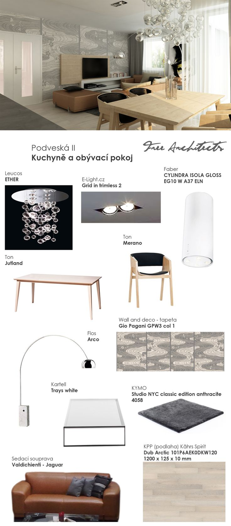 Free architects living room design collection brno for Design apartment udolni brno