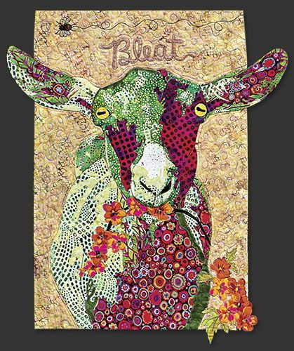 Goat Quilt | Order Ms. MacDonald's Farm Quilt Block of the Month today!: