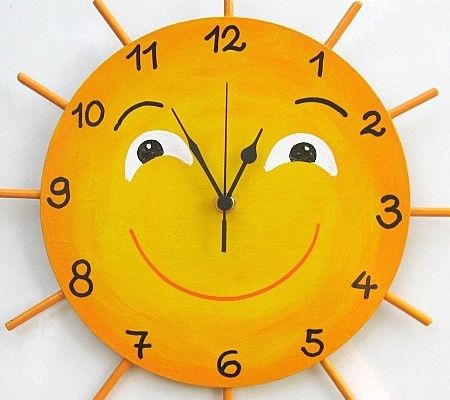 how to make wall clock for kids