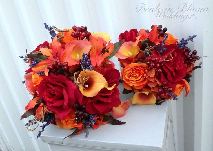 Herfst bruiloft bloemen  herfst bruiloft boeket set  bruid boeket  bruidsmeisje …