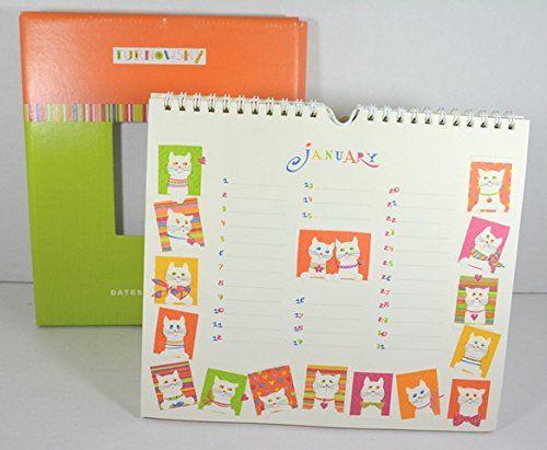 Calendario mensile senza Anno per Date da Ricordare - Birthday Calendar - Cm.19,5x22,5 - Deco Gatti. Idea regalo -  Disponibile da C&C Creations Store