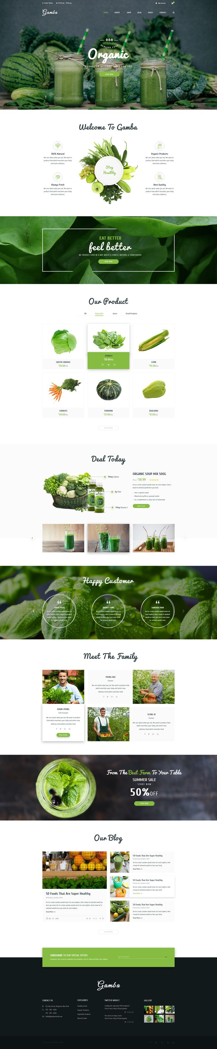 Gamba - Organic PSD Template • Download ➝ https://themeforest.net/item/gamba-organic-psd-template/16928343?ref=pxcr