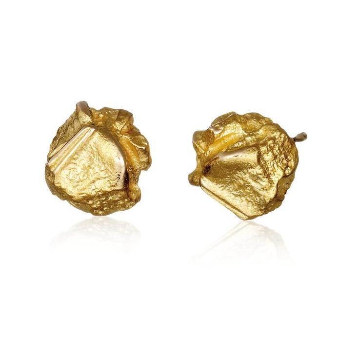 NUGGET  Design Björn Weckström / Gold Earrings / Lapponia Jewelry / Handmade in Helsinki