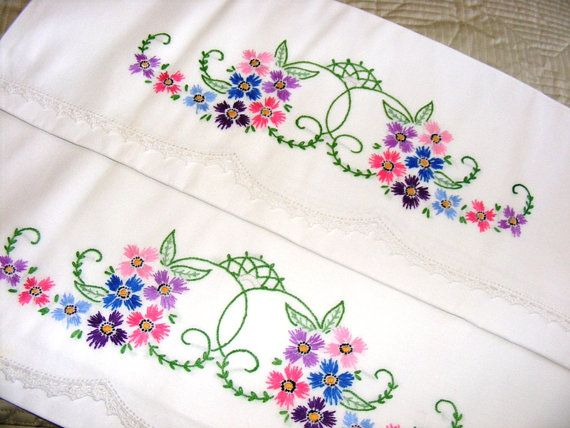 Hand Embroidery Patterns For Pillowcases