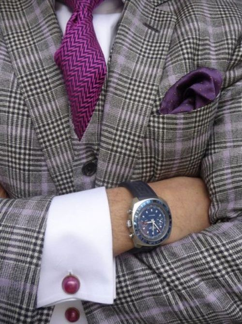 Purple on gray, what a splendid color combination.