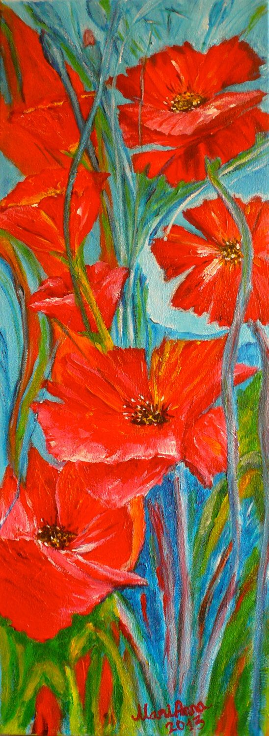 1000 ideas about peinture coquelicot on pinterest for Peinture murale acrylique
