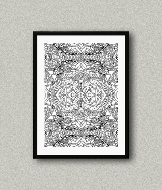 BW003 Abstract art print Art poster Modern art by WhitePaperArt