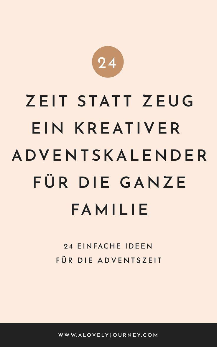 Zeit Statt Zeug Der Geschenk Freie Adventskalender Fur Die Ganze Familie Adventkalender Adventskalender Kreative Adventskalender