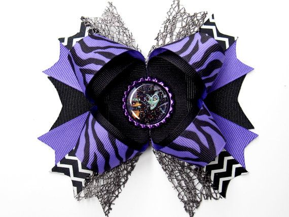 Maleficent Hair Bow Evil Queen Hair Bow  by MarcelinesWonderland, $7.00